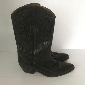 JEAN PIER CLEMENTE Winston Leather Western Boots